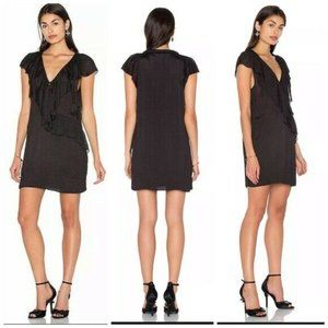 NEW IRO Benelie Shift Dress Black Size 6 $349